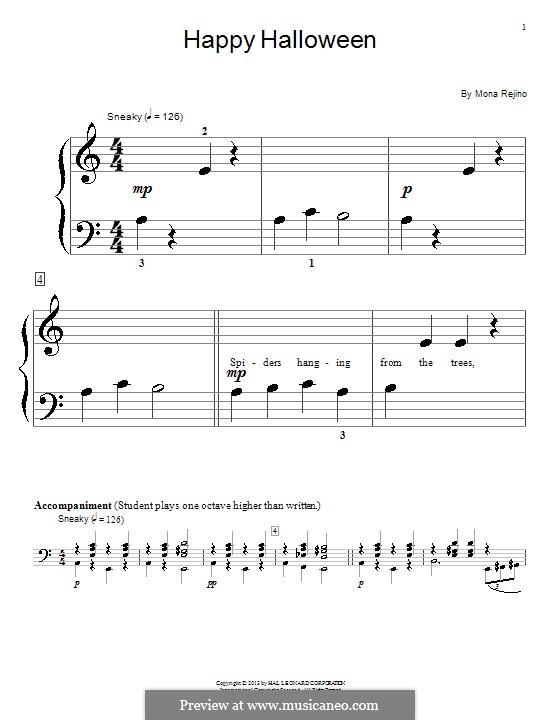 Happy Halloween: Для фортепиано by Mona Rejino