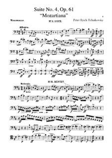 Сюита No.4 соль мажор 'Моцартиана', TH 34 Op.61: Партия виолончелей by Петр Чайковский