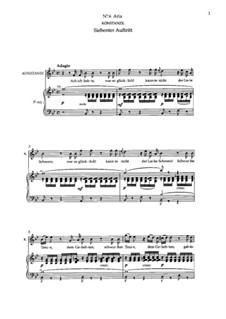 Ария Констанцы 'Ach ich liebte, war so Glücklich': Клавир с вокальной партией (на немецком языке) by Вольфганг Амадей Моцарт