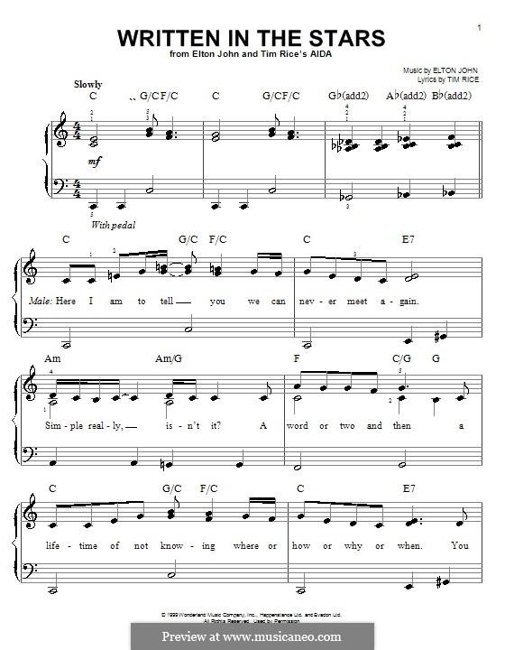 Written in the Stars: Для фортепиано by Elton John