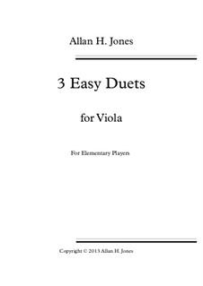 3 Easy Duets: For viola by Allan 'Herbie' Jones