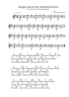 Morgen kommt der Weihnachtsmann: Für Gitarre by folklore