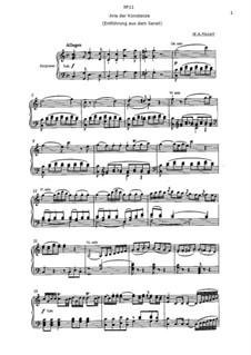 Arie der Konstanze 'Martern aller Arten': Клавир с вокальной партией (на немецком языке) by Вольфганг Амадей Моцарт