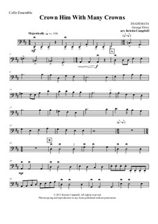 Crown Him with Many Crowns: For cello ensemble – part by George Job Elvey