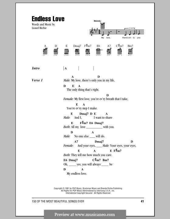 Endless Love: Для укулеле by Lionel Richie