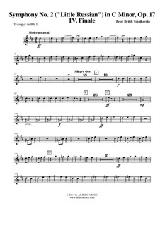 Симфония No.2 до минор 'Малороссийская', TH 25 Op.17: Movement IV - trumpet in Bb 1 (transposed part) by Петр Чайковский