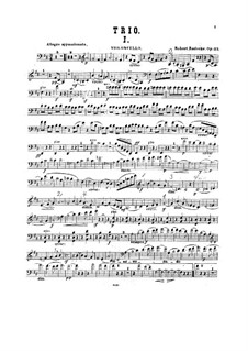 Фортепианное трио си минор, Op.33: Партия виолончели by Роберт Радеке