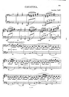 Шесть пьес для скрипки и фортепиано, Op.85: No.3 Каватина. Версия для фортепиано  by Иоахим Рафф