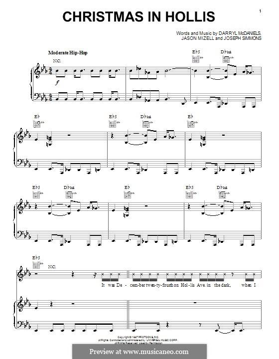 Christmas in Hollis (Run DMC): Для голоса и фортепиано (или гитары) by Joseph Simmons, Darryl McDaniels, Jam Master Jay