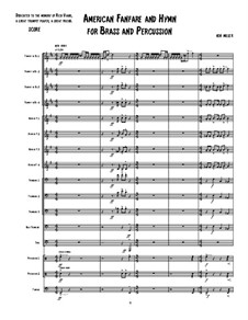 An American Fanfare and Hymn for Brass and Percussion: Партитура by Ken Miller