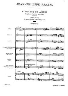 Ипполит и Арисия, RCT 43: Пролог by Жан-Филипп Рамо
