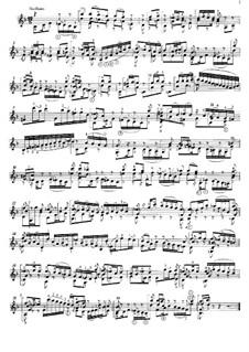 Соната для скрипки No.1 соль минор, BWV 1001: Movement III (Siciliano), for guitar by Иоганн Себастьян Бах