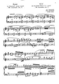 Большая месса до минор, K.427, K.417a: Ария by Вольфганг Амадей Моцарт