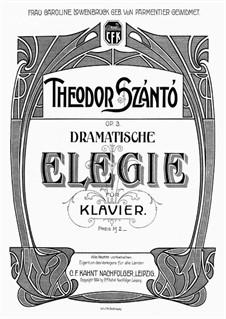 Dramatische Elegie, Op.3: Dramatische Elegie by Тивадар Санто