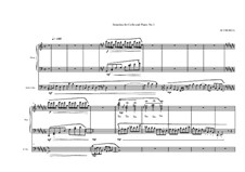 2 Sonatinas for Cello and Piano: Сонатина No.1, MVWV 495 by Maurice Verheul