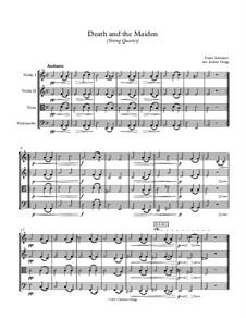Девушка и смерть, D.531 Op.7 No.3: Для струнного квартета by Франц Шуберт
