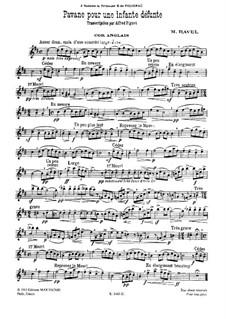Павана на смерть инфанты, M.19: Для английского рожка и фортепиано by Морис Равель