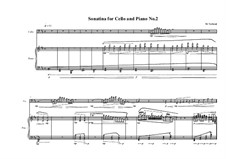2 Sonatinas for Cello and Piano: Сонатина No.2, MVWV 496 by Maurice Verheul