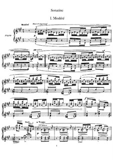 Сонатина для фортепиано фа-диез минор, M.40: Для одного исполнителя by Морис Равель