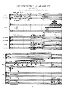 Интродукция и аллегро, M.46: Партитура by Морис Равель