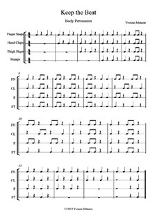 Keep The Beat: No.1, for orff body percussion by Yvonne Johnson
