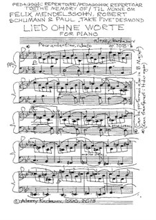 Lied ohne Worte, Op.108-b: Lied ohne Worte by Alexey Kurbanov