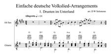 Drunten im Unterland: For alto saxophone and guitar by folklore