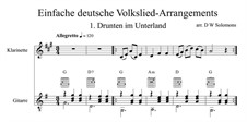 Drunten im Unterland: For clarinet and guitar by folklore