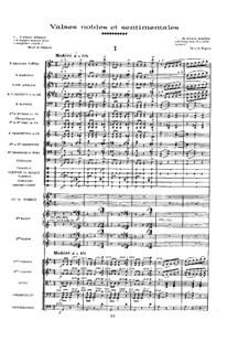 Благородные и сентиментальные вальсы, M.61: Партитура by Морис Равель