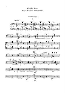 Благородные и сентиментальные вальсы, M.61: Партия виолончелей by Морис Равель