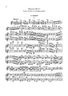 Благородные и сентиментальные вальсы, M.61: Партия I скрипок by Морис Равель