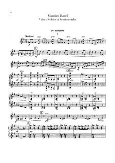 Благородные и сентиментальные вальсы, M.61: Партия II скрипок by Морис Равель