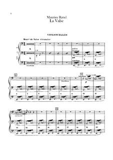 Вальс. Хореографическая поэма для оркестра, M.72: Партия виолончелей by Морис Равель