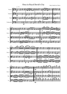Once in Royal David's City: Для струнного квартета by Henry John Gauntlett