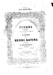 Etudes de Style et de Perfectionnement, Op.14: Nos.8-12 by Жан-Анри Равина