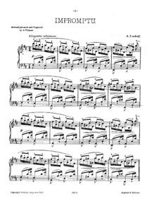Экспромт ре мажор, Op.6: Для фортепиано by Анатолий Лядов