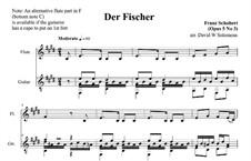 Рыбак, D.225 Op.5 No.3: Для флейты и гитары by Франц Шуберт