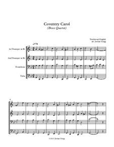 Coventry Carol: Для квартета медных духовых by folklore