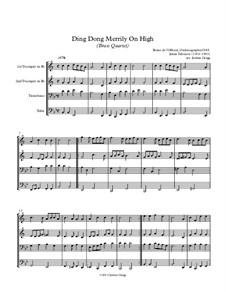 Ding Dong! Merrily on High: Для квартета медных духовых by folklore