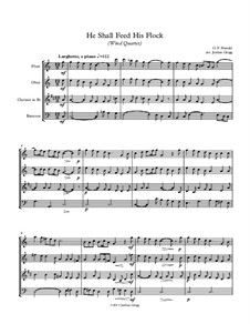 No.20 He Shall Feed His Flock : For wind quartet by Георг Фридрих Гендель
