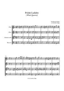 Polish Lullaby: For wind quartet by folklore