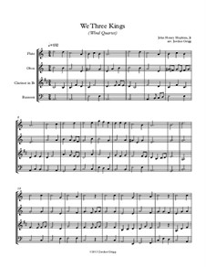 We Three Kings of Orient are: For wind quartet by John H. Hopkins Jr.