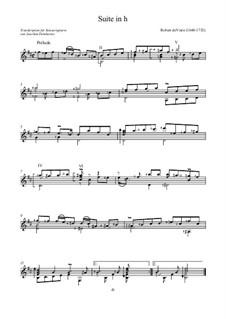 Suite in h: Suite in h by Robert de Visée