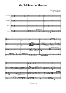 Go, Tell it on the Mountain: For string quartet by folklore