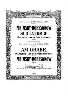 Над могилой, Op.61: Партитура by Николай Римский-Корсаков