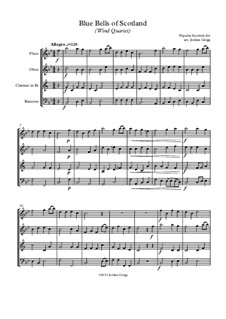 The Blue Bells of Scotland: For wind quartet by folklore