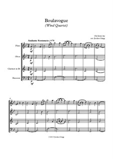 Boulavogue: For wind quartet by Patrick Joseph McCall