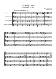 The Kerry Dance: For sax quartet SATB by James L. Molloy