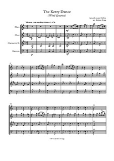 The Kerry Dance: For wind quartet by James L. Molloy
