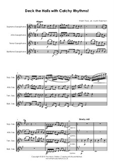 Deck the Hall: Для квартета саксофонов by folklore